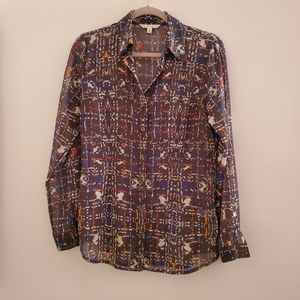 Cabi Patterned Blouse Sheer S